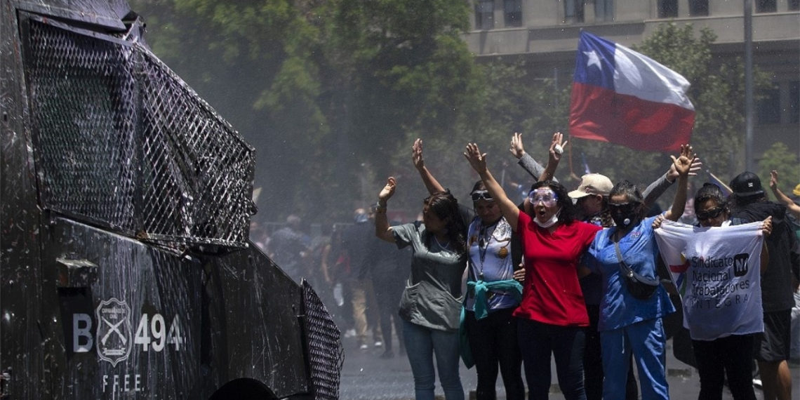 Protestas en Chile. Foto: AFP