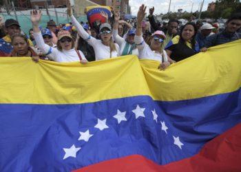 Ciudadanos venezolanos en Colombia. Foto: AFP