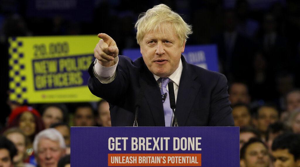 El primer ministro de Reino Unido,  Boris Johnson. Foto: AP