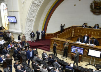 Asamblea Nacional de Venezuela. Foto: AFP