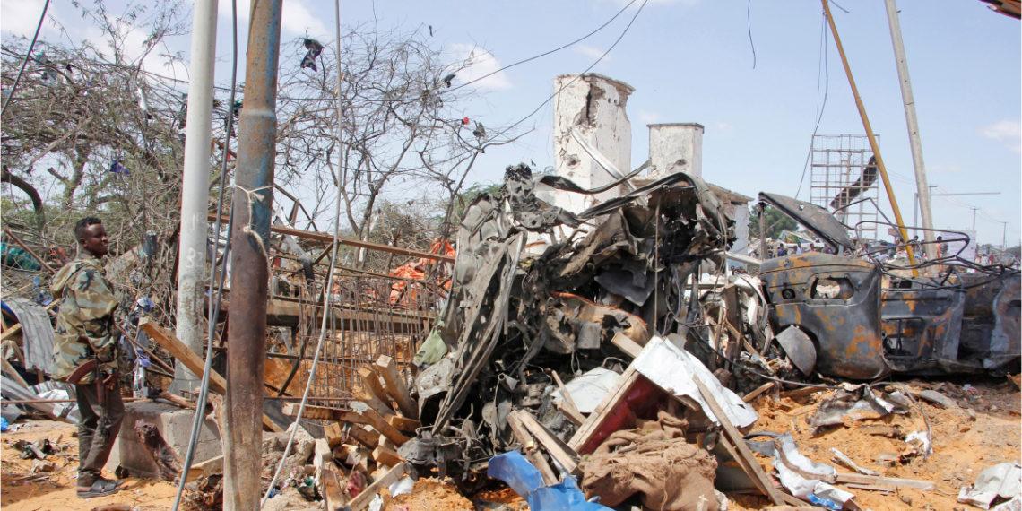 El atentado con carro bomba en Mogadiscio (Somalia) dejó más de 80 muertos. Foto: AP