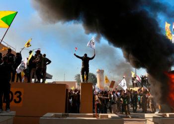 Embajada de EE.UU. en Irak. Foto: AP