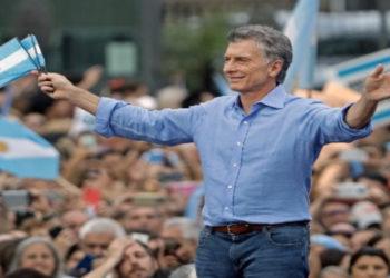 Despedida del presidente de Argentina, Mauricio Macri. Foto: AFP