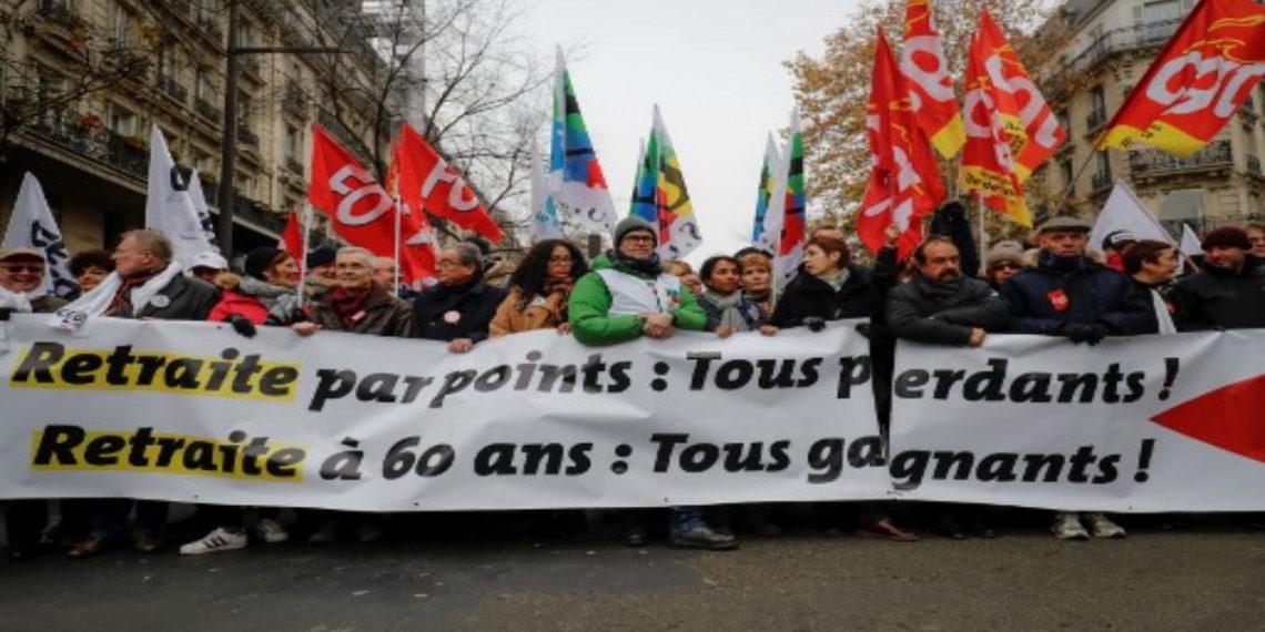 Protestas en Francia. Foto: AFP