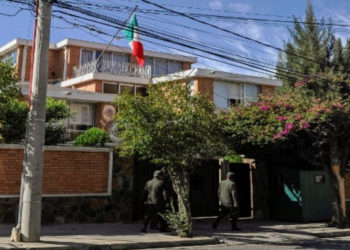 Embajada de México en La Paz, Bolivia. AFP