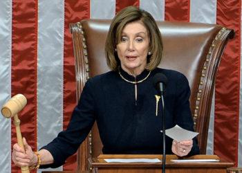 La presidenta de la Cámara de Representantes , Nancy Pelosi. Foto: AP