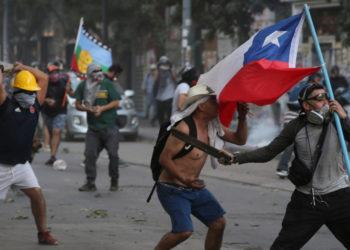 Protestas en Chile. Foto: AP
