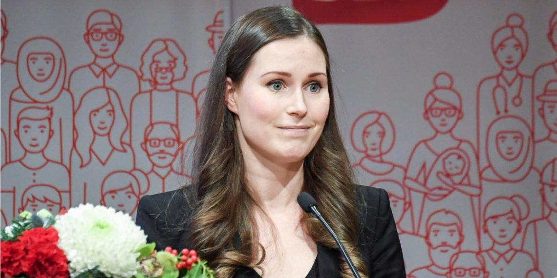 Sanna Marin fue elegida como primera ministra de Finlandia a sus 34 años. Foto: AFP