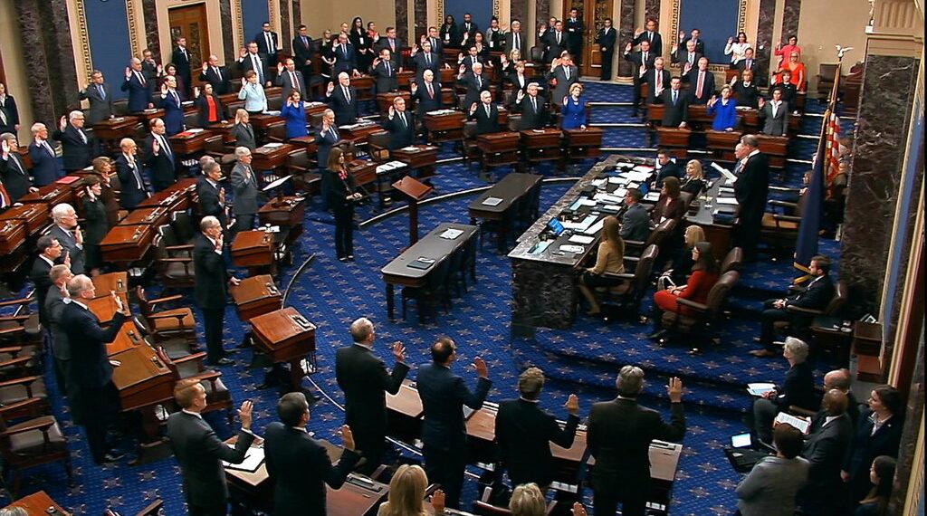 Senado de los Estados Unidos concluyó el juicio político contra el presidente Donald Trump. Foto: AP