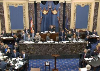 Senado de los Estados Unidos avanza con el juicio político contra el presidente Donald Trump. Foto: AP