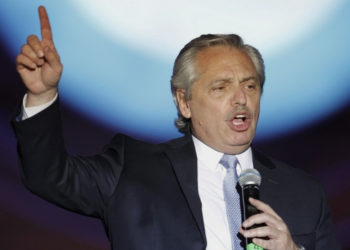 El presidente de Argentina, Alberto Fernández. Foto: AFP