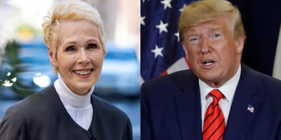 La periodista E-Jean-Carroll acusa a Donald Trump de violarla en la década de 1990. Foto: AP