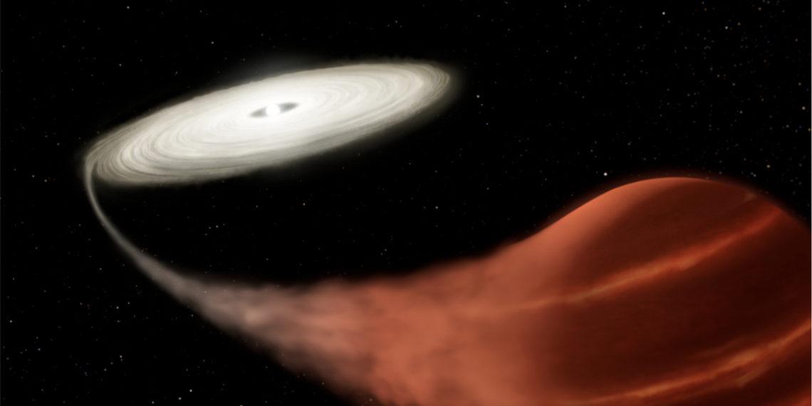 """Ilustración de la estrella de """"vampiro"""" detectada por un grupo de científicos. Foto: NASA"""