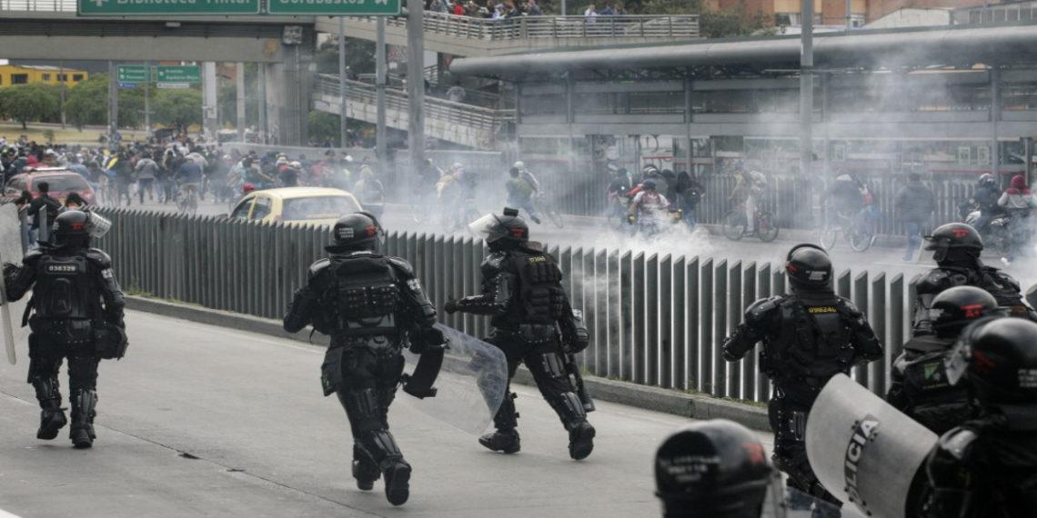 Disturbios en marchas en Colombia. AFP