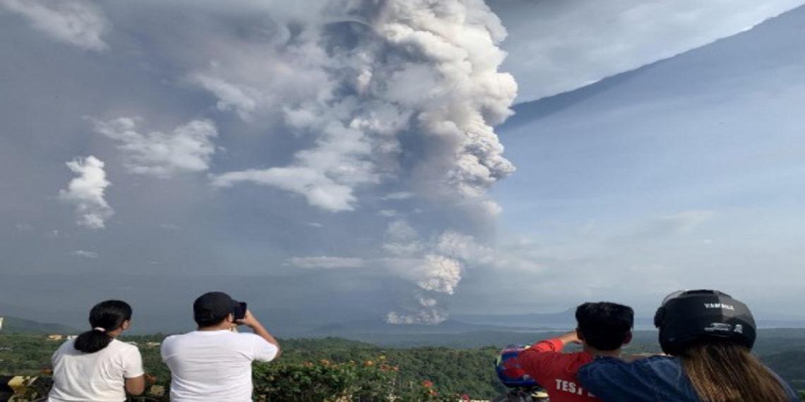 Volcán Taal, Filipinas. AFP