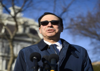 El secretario del Departamento del Tesoro de Estados Unidos, Steven Mnuchin. AFP