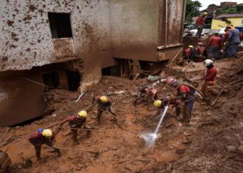 Deslizamientos de tierra en Brasil. AFP