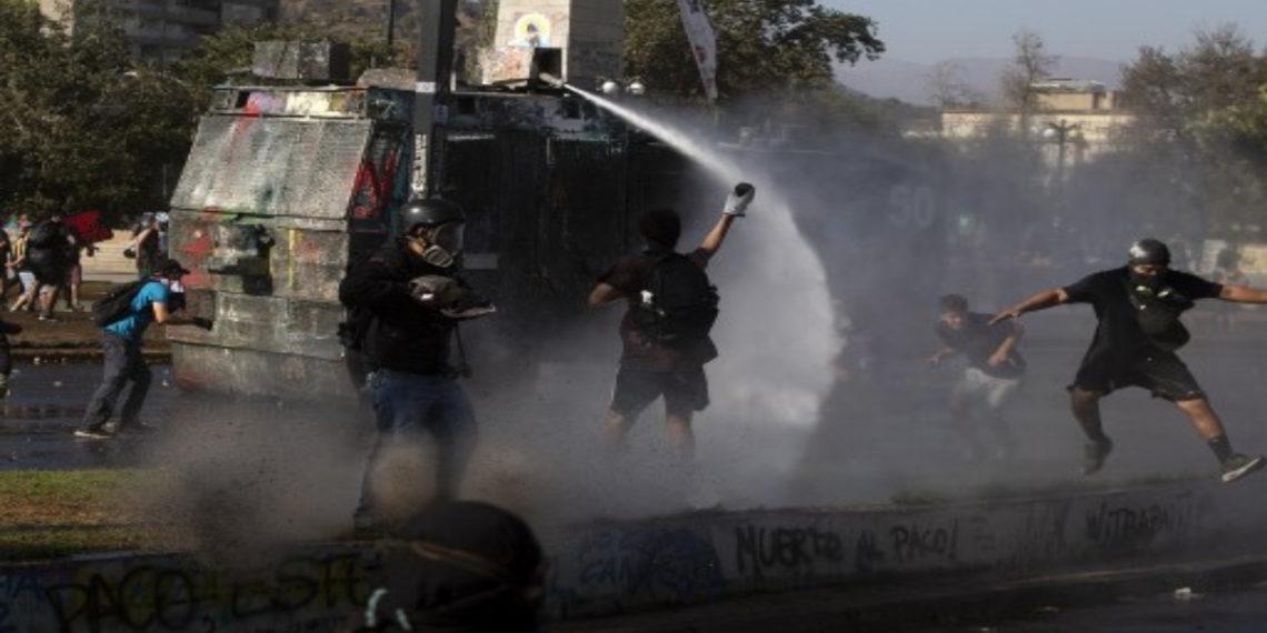 Protestas en Chile. AFP