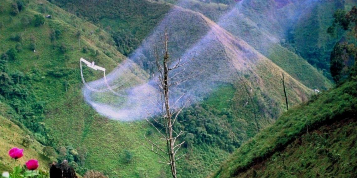 Fumigación de cultivos ilícitos en Colombia. Foto: AFP