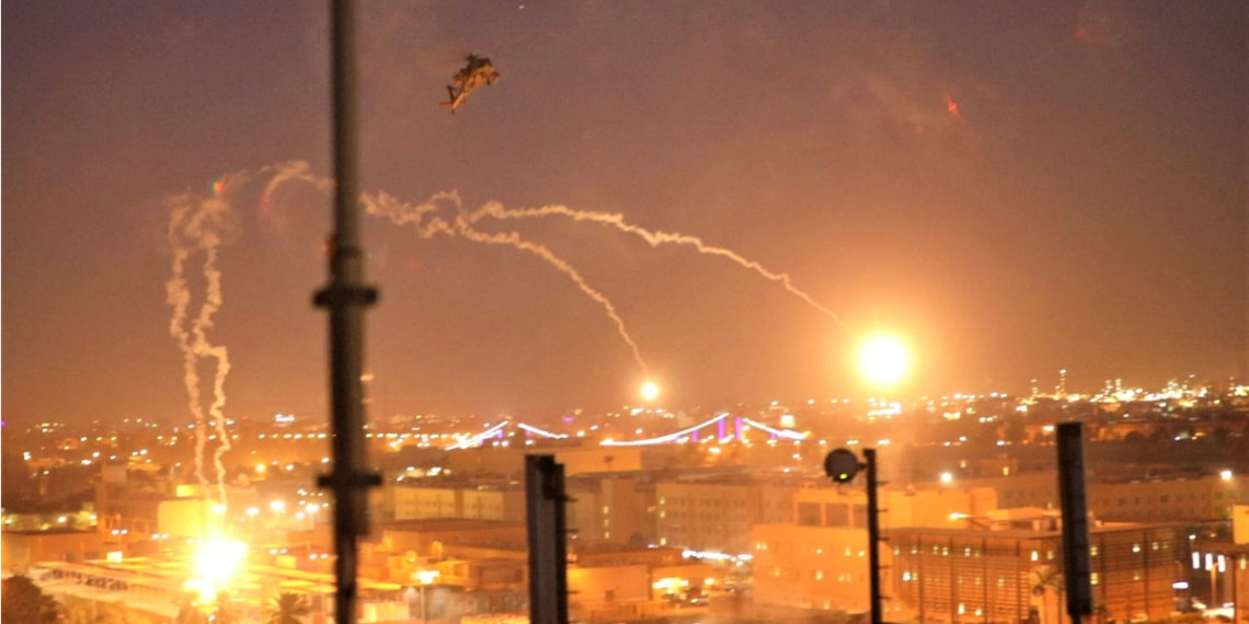 Imagen de referencia de ataque con misiles en Irak. Foto: AFP