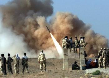 Imagen de referencia de un misil en Irán. Foto: EFE