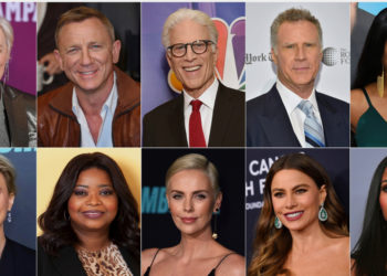 Glenn Close, Daniel Craig, Ted Danson, Will Ferrell, Tiffany Haddish, y (abajo) Kate McKinnon, Octavia Spencer, Charlize Theron, Sofia Vergara y Kerry Washington, que serán presentadores en la gala de entrega de los Globos de Oro. Foto: AP