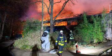 Incendio en un zoológico de Alemania. Foto: AP