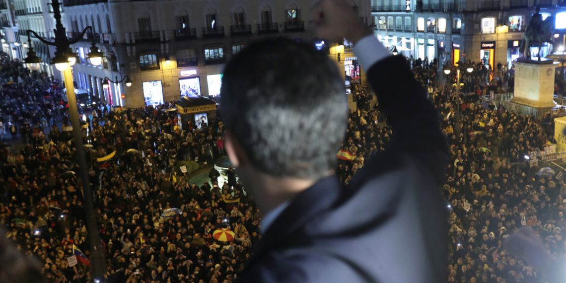 Juan Guaidó cerró gira en España