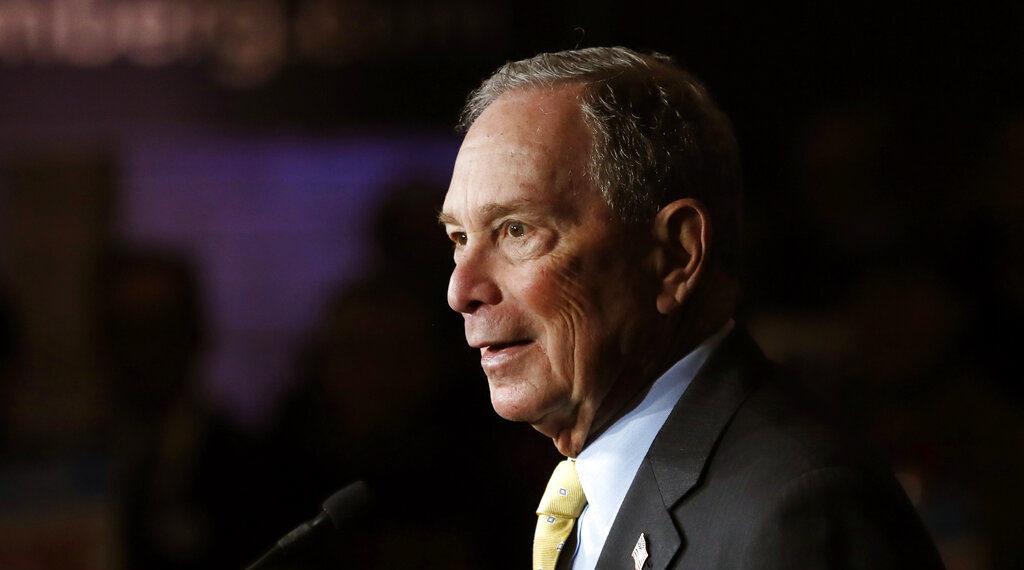 El candidato presidencial demócrata Michael Bloomberg. Foto: AP
