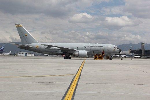 Avión Júpiter KC-767 de la Fuerza Aérea Colombiana. Foto: FAC