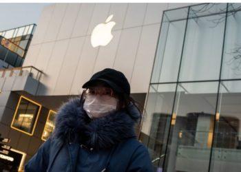 Apple cae por impacto del nuevo coronavirus y golpea a Wall Street. América Digital. AFP