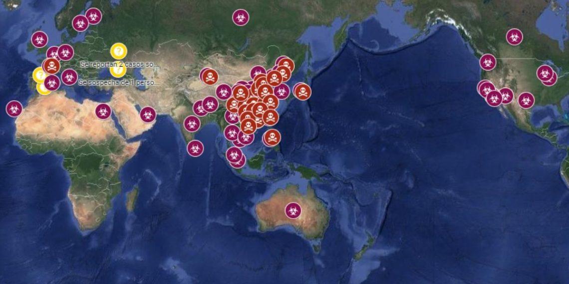 casos de coronavirus mapa