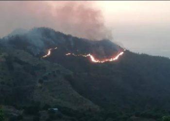 Incendios forestales en la Sierra Nevada de Santa Marta. América Digital. Foto: Plataforma de Cooperación y Custodia del Agua