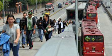 Imagen de referencia de Transmilenio en Bogotá. América Digital. AFP
