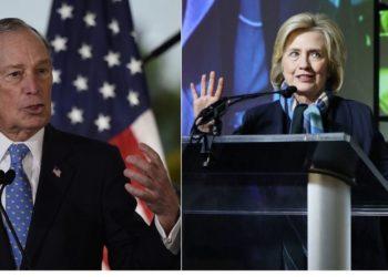 Bloomberg estaría considerando a Hillary Clinton como vicepresidenta. América Digital. AFP