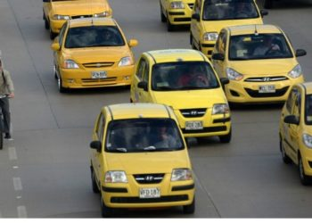 Taxis en Colombia. América Digital. AFP