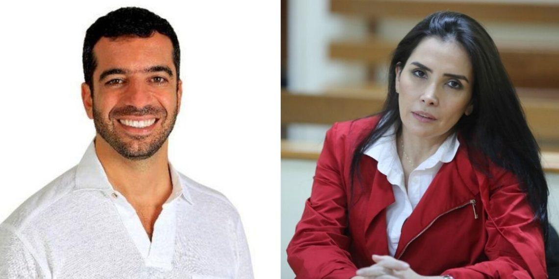 Senador de Colombia Arturo Chay y excongesista Aida Merlano. América Digital. Foto: @arturocharc y AFP