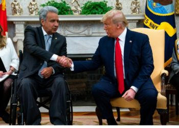 El presidente ecuatoriano, Lenín Moreno, que esta semana visitó Estados Unidos y fue recibido en Washington por su homólogo estadounidense, Donald Trump. AP