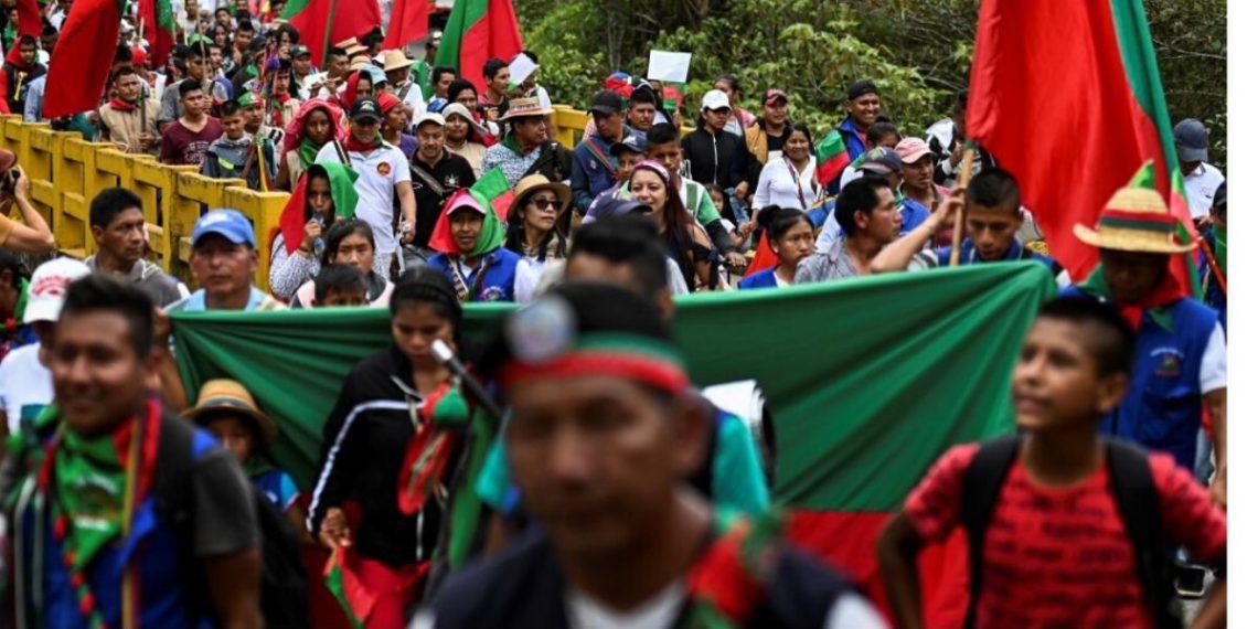 asesinaron a tiros a un indígena en el convulso departamento colombiano del Cauca. AFP