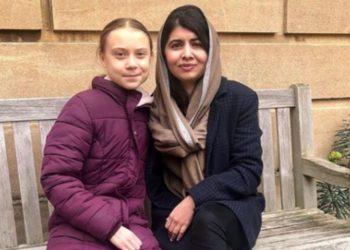 El poderoso encuentro entre Greta Thunberg y Malala. Foto Twitter @Malala