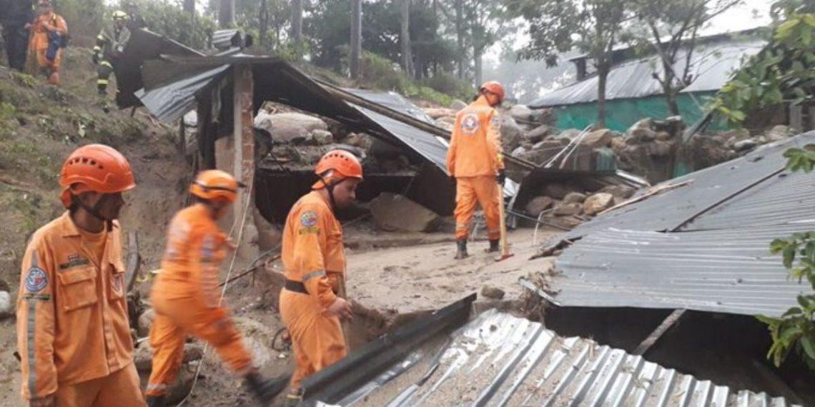 Avalancha en Piedecuesta, Santander, Colombia. Foto: Unidad Nacional para la Gestión del Riesgo de Desastres