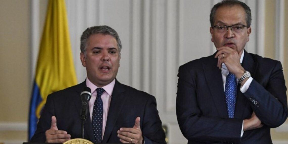 Presidente de Colombia, Iván Duque y el procurador de la nación Fernando Carrillo. América DIgital. AFP