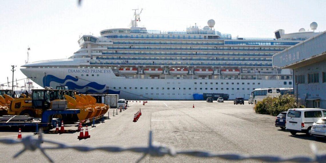 El cruceroDiamond Princess, se encuentra en cuarentena en Japón. América Digital. AP