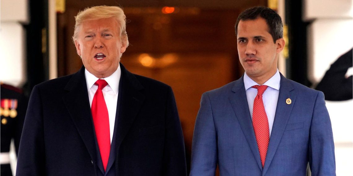 Encuentro entre el presidente de EE.UU. Donald Trump y el presidente interino de Venezuela, Juan Guaidó. Foto: AP