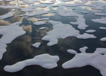 El deshielo del Ártico está cambiando las corrientes oceánicas. Foto: NASA