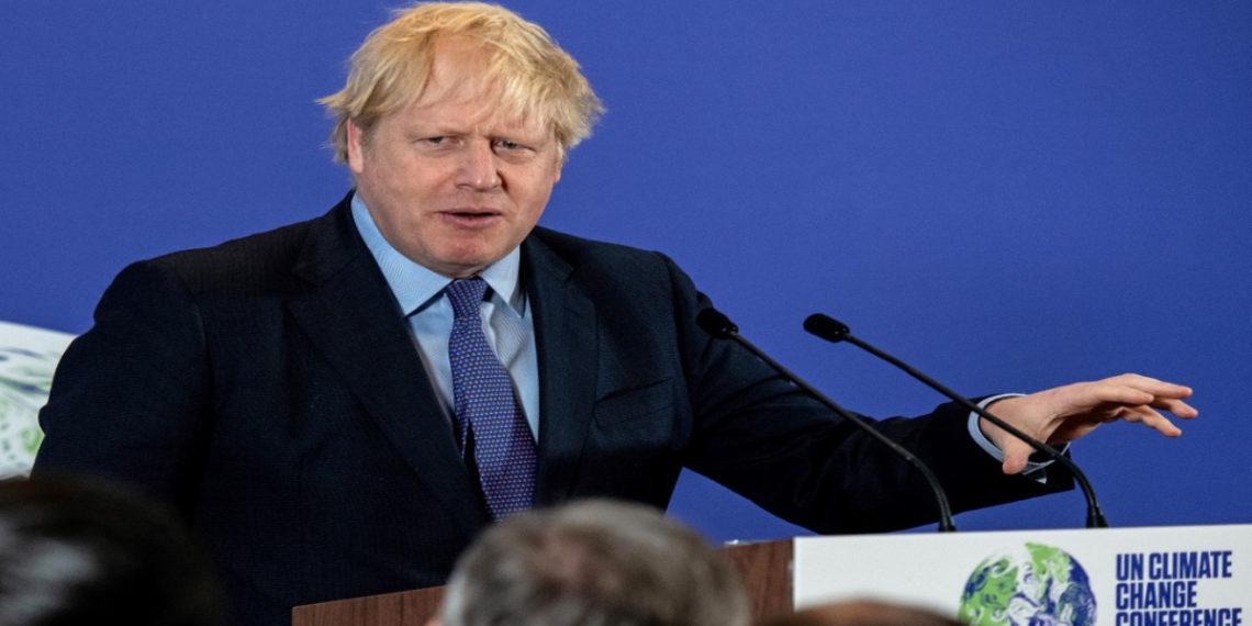 el primer ministro Boris Johnson en la presentación de la COP26. América Digital/AFP