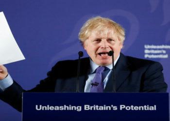 El primer ministro británico, Boris Johnson, describe la postura negociadora de su gobierno con la Unión Europea después del Brexit. América Digital. AFP