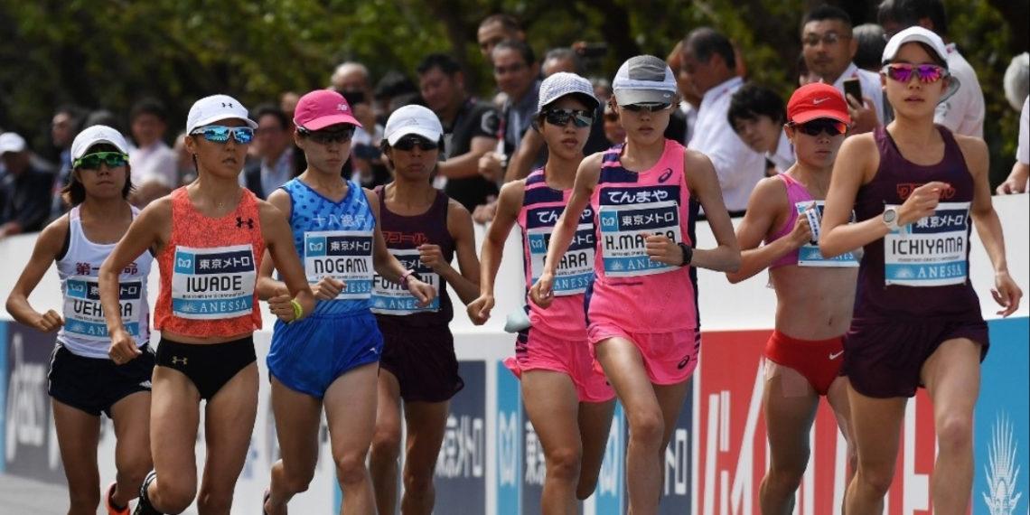 Atletas durante la maratón de Tokio 2019. Foto: AFP