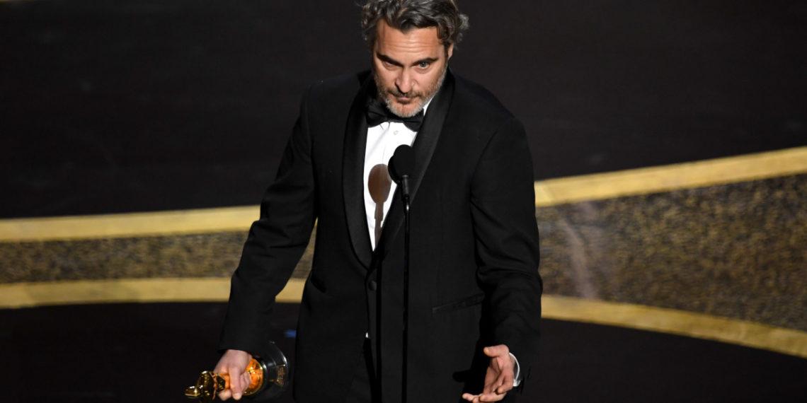 Joaquin Phoenix ganó el Oscar como mejor actor. Foto: AFP