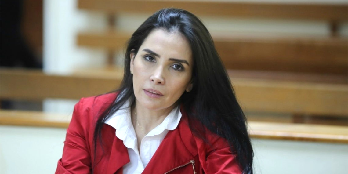 La excongresista colombiana Aida Merlano. Foto: AFP